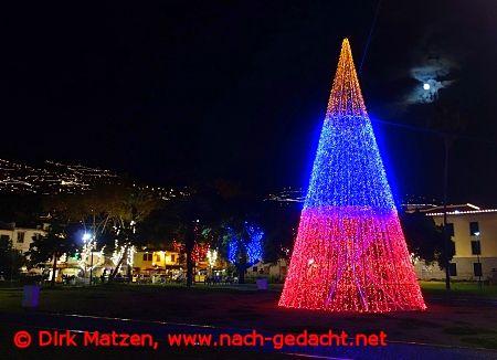 Weihnachtsbeleuchtung Kegel.Bilderserie Weihnachtsbeleuchtung Funchal Auf Madeira Dezember
